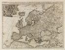 Europa - 1 Bl. Europa in praecipuas ipsius partes (P. van der Aa).