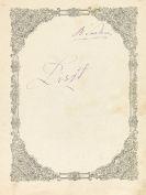 Friedrich Smetana - Eigh. Namenszug auf Musikhandschrift (zwei Klavierstücke Liszt, Kopie von fremder Hd.)