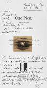 Otto Piene - Slg. Autographen, Zeichnungen, Prospekte etc., zus. 19 Tle. + eigh. Umschläge.