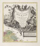Tobias Conrad Lotter - 4 Karten in 8 Einzelblättern: Siberien, Ukraine, Kreta und Schlesien.