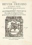 Alessandro Peccana - Del bever freddo, 1627.