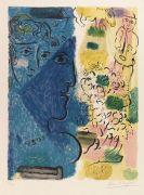 Marc Chagall - Le profil bleu