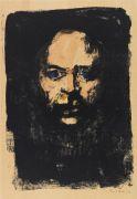 Emil Nolde - Männerkopf (Selbstbildnis)
