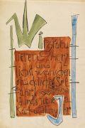Karl Schmidt-Rottluff - Neujahrsgruß (Schriftblatt)