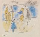 Lyonel Feininger - Fünf Personen am Strand