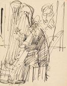 Ernst Ludwig Kirchner - Harfenspieler