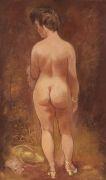 George Grosz - Stehender weiblicher Rückenakt