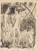 Otto Mueller - Zwei Stehende, ein sitzendes Mädchen