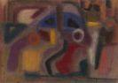 Ida Kerkovius - Ohne Titel (Abstraktion mit 3 Figuren)