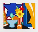 Tom Wesselmann - Still life with blowing curtain orange