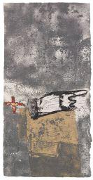 Antoni Tàpies - Ma i creu sobre gris