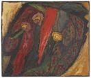 Gabriele Münter - Farbstudie mit Rot und Gelb