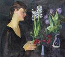 Conrad Felixmüller - Blumenbetrachtung