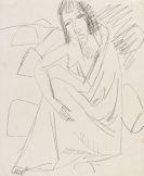 Ernst Ludwig Kirchner - Sitzende Frau im Badetuch am Strand