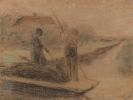 Liebermann, Max - Zwei Männer beim Ausbaggern eines holländischen Kanals