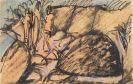 Ernst Ludwig Kirchner - Drei Figuren auf Fehmarn (Postkarte)