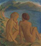 Heckel, Erich - Zwei Frauen am Strand