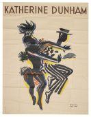 Paul Colin - Plakat mit Katherine Dunham. ca. 1945-1947