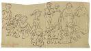 Heinrich Zille - 6 Bll. mit 16 Skizzen und Zeichnungen + 1 Radierung.