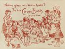 Heinrich Zille - Kindergruppe (Plakat für den Zirkus Busch). Dabei: Radierung