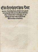 Martin Luther - Ein freyheyt des Sermons