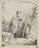 Harmensz. Rembrandt van Rijn - Abraham mit Isaak sprechend