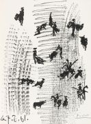 Pablo Picasso - Toros y Toreros, Mit Orig.-Lithographie, Ex. Nr. 85, signiert