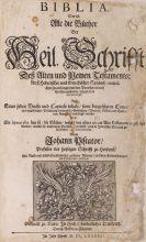 Biblia germanica - Biblia germanica (Piscator), 1684