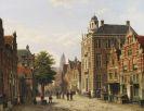 Koekkoek, Willem - Holländische Stadtansicht im Sommer