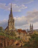 Heinrich Adam - Blick auf Esslingen am Neckar