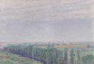 Palmié, Charles Johann - Sommerlandschaft mit Zypressen