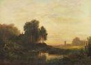 August Seidel - Abendlandschaft