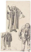 Adolph von Menzel - Drei Figurenstudien (