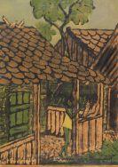 Otto Mueller - Zwei Zigeunerkinder vor der Hütte