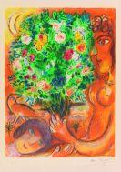 Marc Chagall - Frau mit Strauß (aus: Nizza und die Côte d'Azur)