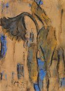 Christian Rohlfs - Welkende Sonnenblumen mit Blau