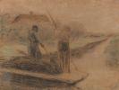 Max Liebermann - Zwei Männer beim Ausbaggern eines holländischen Kanals
