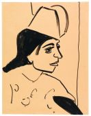 Ernst Ludwig Kirchner - Mädchenkopf