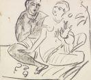 Ernst Ludwig Kirchner - Hockendes Paar (wohl nach Ajanta)