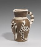 Picasso, Pablo - Grey engraved pitcher