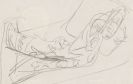 Ernst Ludwig Kirchner - Liegende (Skizze zu dem Gemälde: Olympia)
