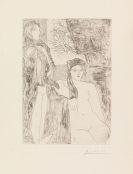 Pablo Picasso - Femme au voile, modèle assis et tête de Rembrand