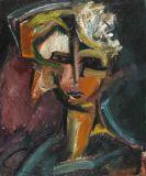 Bruno Krauskopf - Weiblicher Kopf mit einer Blüte im Haar