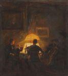 Otto Pippel - Musizierende Abendgesellschaft