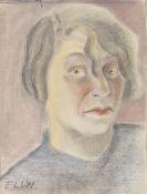 Elfriede Lohse-Wächtler - Selbstporträt im Halbprofil