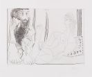 Pablo Picasso - Femme aguichant un homme songeur
