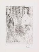 Pablo Picasso - Le cabinet particulier. Degas et une fille