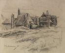 Max Liebermann - Bauernhäuser (verso: Acker und Bauernhäuser)