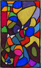 Adolf Hölzel - Glasfensterentwurf