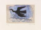 Braque, Georges - Oiseau noir sur fond bleu (Oiseau VIII)